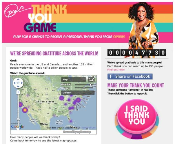 oprah thank you game screenshot 1