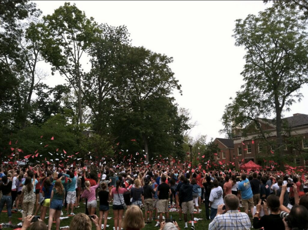 Flying planes Miami University 2013 convocation